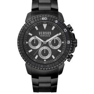 Versace Black Enamel Versus 45mm Watch